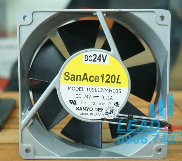 Quạt SANYO DENKI 109L1224H105, 24VDC, 120x120x38mm
