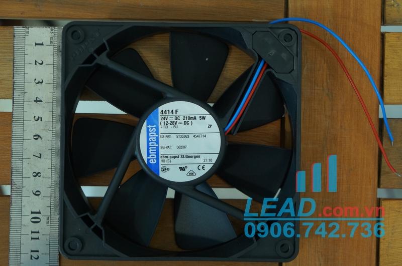 Quạt hút Ebmpapst 4414F, 24VDC, 119x119x25mm