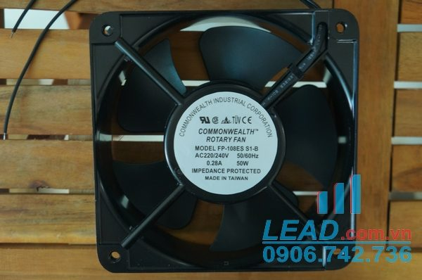 Quạt AC COMMONWEALTH FP-108ES-S1-B, 220/240V, 150x150x50mm