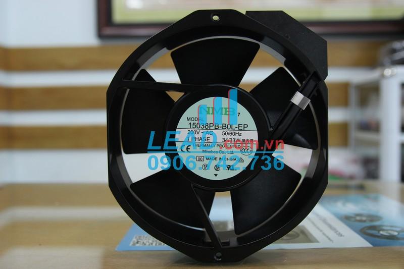 Quạt hút NMB 15038PB-B0L-EP, 200VAC, 172x150x38mm