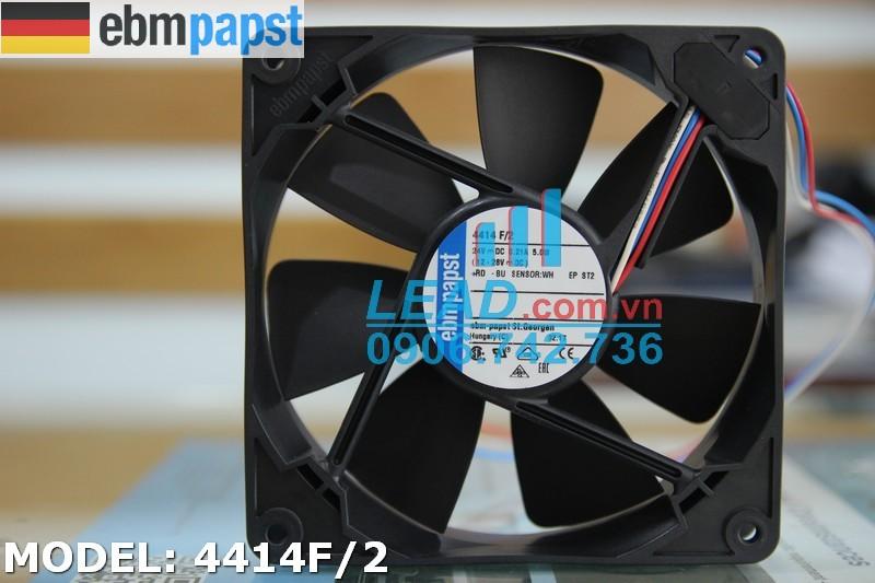 Quạt hút EBM-PAPST 4414F/2, 24VDC, 120x120x25mm