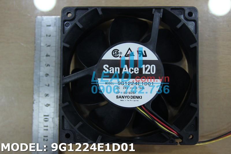 Quạt hút DC SANYO DENKI 9G1224E1D01, 24VDC, 120x120x38mm